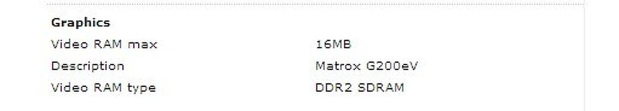 IBM서버에 들어가는 VGA 메모리는 16M 입니다.