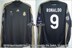 09/10 Real Madrid 3rd L/S No.9 Ronaldo Match Issued Shirt (Vs. Zurich, 15 Aug 09) (SOLD OUT)