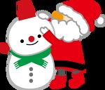png파일 귀여운 산타 크리스마스 일러이미지