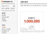 블로그 총 방문자 수 100만명 돌파.!