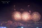 부산항대교 불꽃축제 2 (광복 70주년 기념행사)