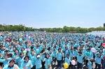 드디어 기다리고 기다리던 장길자 회장님의 국제위러브유 새생명걷기대회가 열렸어요 ^^