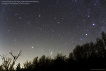 Comet Lovejoy, M31, M33, and Cassiopeia 러브조이 혜성, 안드로메다 은하, 삼각형자리 은하, 카시오페이아