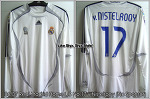 06/07 Real Madrid Home L/S No.17 v.Nistelrooy Player Issue (Non Sponsor Ver.)