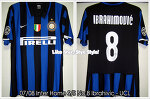 07/08 Inter Home S/S No.8 Ibrahimovic Match Worn (Vs. CSKA Moscow, 07 Nov 07) (SOLD OUT)