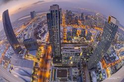 67층 높은곳에서 바라보는 송도의 겨울밤!!
