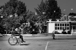 휠체어와 가을 운동회
