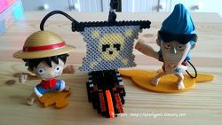 [펄러비즈] 루피와 프랑키가 함께 만드는 해적선