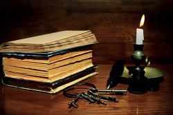오래된 책,지혜,열쇠