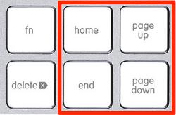 맥북 키보드에서 Home, End, PgUp, PgDn키 사용하기