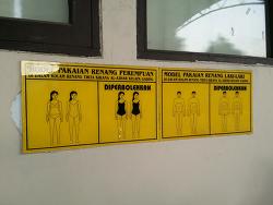 황당했던 인도네시아의 수영복 규제
