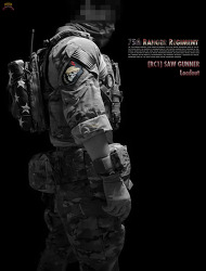 [RC1] 75th RANGER REGIMENT SAW GUNNER Loadout.