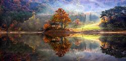용비지의 가을