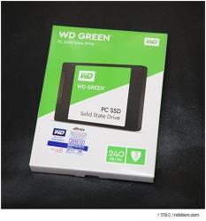 WD GREEN SSD 빠른 파일쓰기 속도로 영상작업 게임할 때 추천!