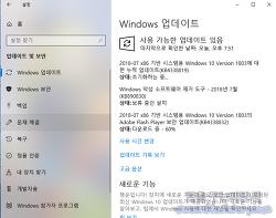 윈도우 10 1803 KB4338819 정기 누적 업데이트