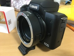 [카메라 악세사리]캐논 EF렌즈 사용을 위한 호환 어댑터, VILTROX(EF-EOS M)