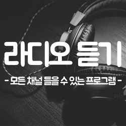 라디오 듣기 모든 채널 들을 수 있는 프로그램