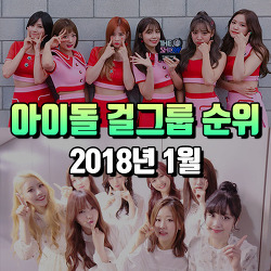 [2018년 1월]여자 걸그룹 아이돌 그룹 순위 TOP10 : 브랜드 평판지수 기준
