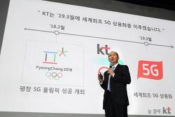 세상을 바꿀 5G, KT와 함께! KT, 2019년 3월 '5G 상용화' 선언