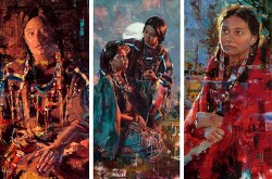 Interview: Expressive Paintings of Native Americans in Authentic Dress