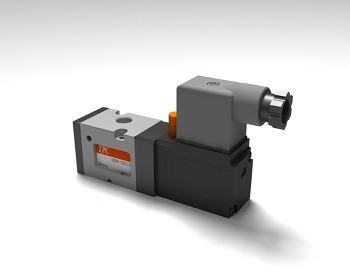 TPC메카트로닉스 솔레노이드 밸브 시리즈 3d 렌더링