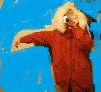 엠폴햄 야상 ER4A033  오렌지 - 제품 후기  / 겨울 야상, 내피 탈부착 야상, 안감 야상