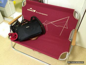 [캠핑용품/의자] 코베아 폴딩벤치 패밀리 벤치체어 캠핑용 체어