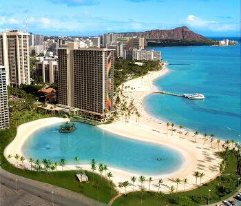 하와이 와이키키 레이보우 타워 수영장