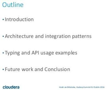 [HadoopSummit] Apache HBase + Spark: Leveraging your Non-Relational Datastore in Batch and Streaming applications