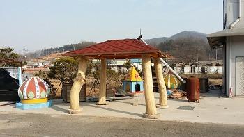 통나무 원두막 정자