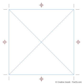CropMarks 스크립트를 이용한 인디자인(InDesign) 재단선그리기