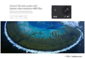 Elephone ELE Explorer 4K 직구 액션캠 개봉 후기 싸고 좋다