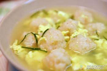 탱글&부드러운 제철 새우요리  '새우완자 계란국 끓이는 법'
