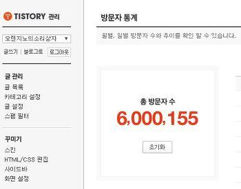 오렌지노의 소리상자 블로그 600만명 돌파 기념 추억팔이 글