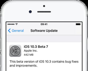 iOS 10.3 베타7 IPSW 다운로드 링크 및 iOS 10.3 퍼블릭 베타7 업데이트 방법