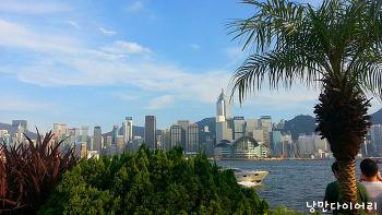 홍콩 스타의거리와 침사추이 레이저쇼;홍콩자유여행