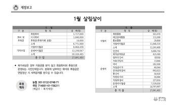 2018년 1월 재정