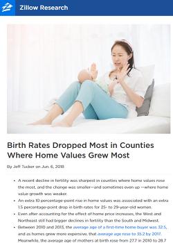 주택 가격 상승이 출산율 저하에 큰 영향을 준다?