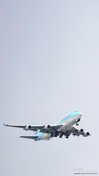 스마트폰 배경화면 보잉747 (BOEING 747-400 AirBus) 대한항공 HL7498