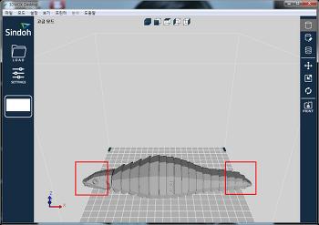 신도리코 3D프린터 3DWOX DP200 장비로 개미핥기 출력 성공