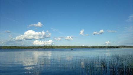 깨끗한 핀란드의 호수