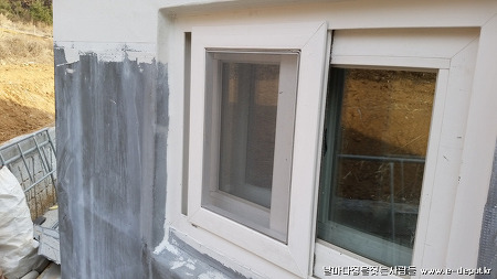 태안 사창리 주택신축사례 : 외부 스타코 및 파벽돌 마감공사 [주택신축/집짓기/공사견적/건축적산]