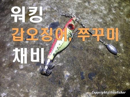 워킹 갑오징어 쭈꾸미 채비 - 요즘 주력채비!