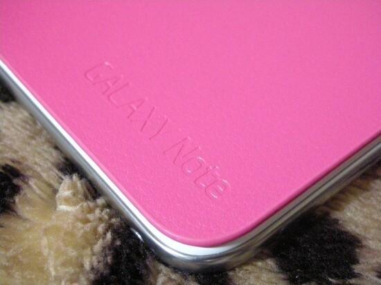 갤럭시 노트 핑크 플립커버 착샷!