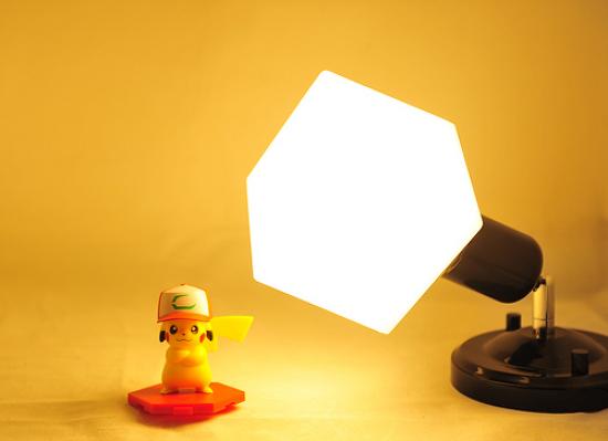 사각 LED볼전구 이용한 인테리어 조명 효과