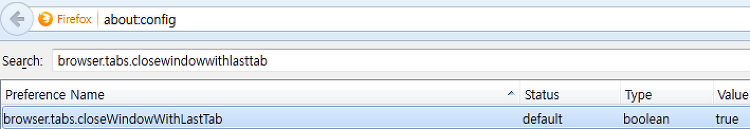 Firefox 35 버전, 마지막 탭을 닫아도 파폭을 끄지 않는 법