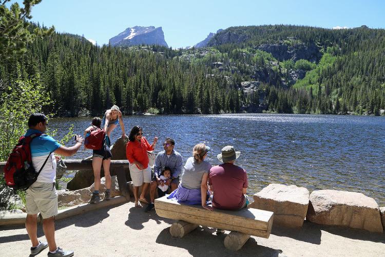 록키마운틴(Rocky Mountain) 국립공원 베어레이크(Bear Lake)와 트레일리지로드(Trail Ridge Road)
