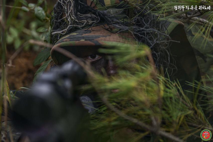 1사단 저격반의 종합전술훈련!!