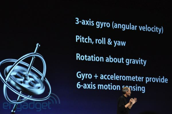 Gyro Sensor in iPhone 4
