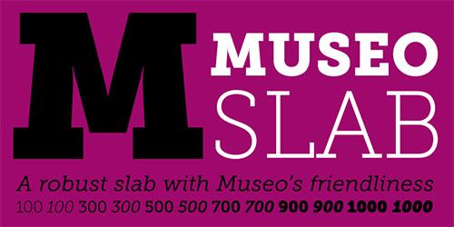 무료폰트, Museo Slab